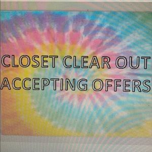 CLOSET CLEAROUT! Offers up to 50% on most items